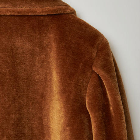 fake fur jacket / brown
