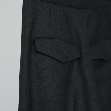 High waist trouser pants / black