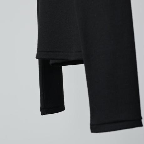 Dress-up wool knit / black