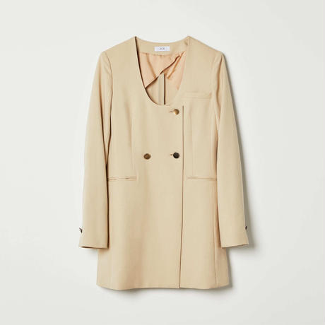 round neck long jacket