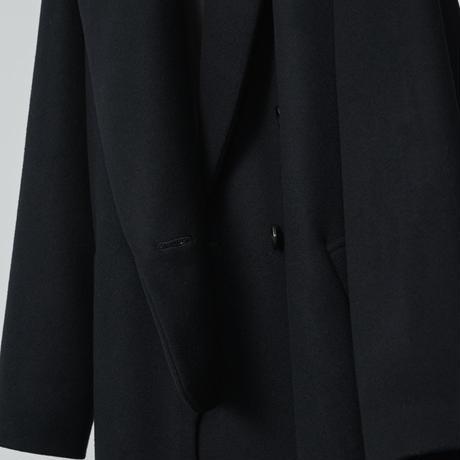 lucky long slit coat / black