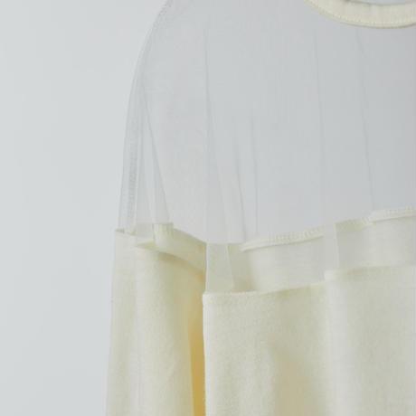 Dress-up wool knit / white