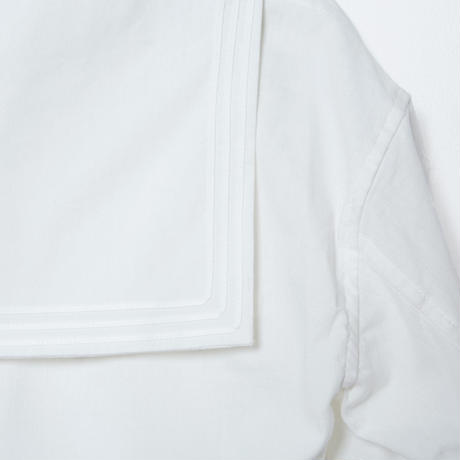 sailor collar shirts / white (cotton&linen)