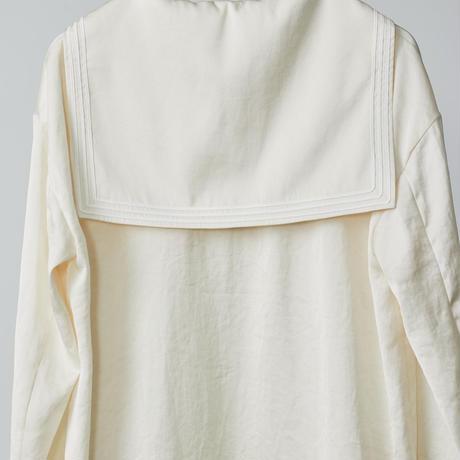 sailor collar shirts / white
