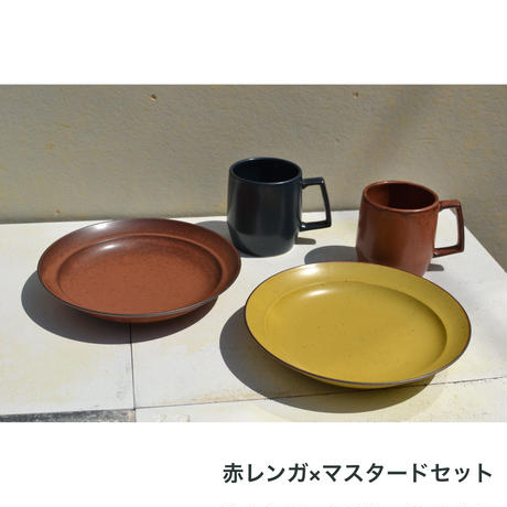 リム皿+マグカップ 4点セット
