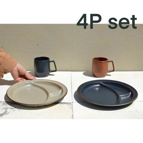 パレット皿+マグカップ 4点セット