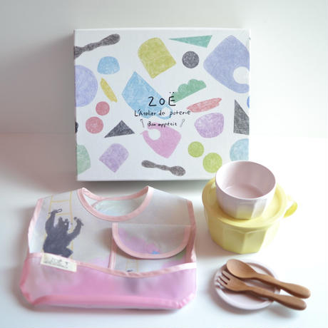HUNGRY BEAR PINK ボナペティ ベビーギフトセット