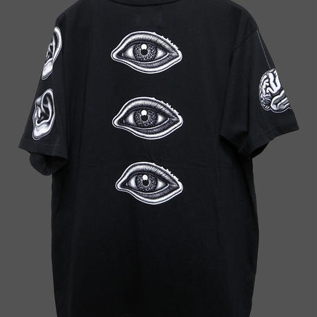 ZENMAI T-shirt Black×White