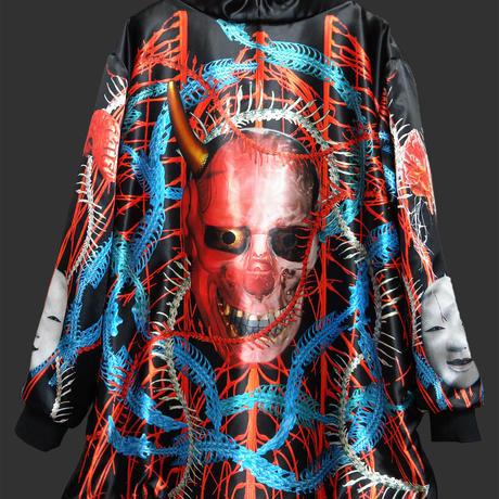 Blue-red chain Prajna jacket
