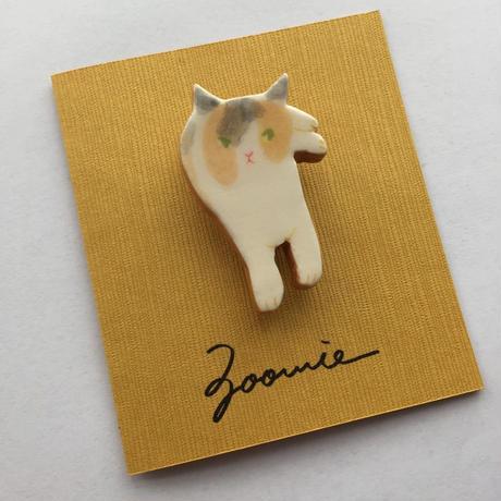 パステル三毛猫ちゃんのブローチ ー Brooch  ー