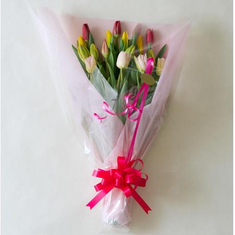 チューリップだけの贅沢な花束(20本入り)
