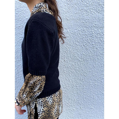 black knit tops [Vk026]