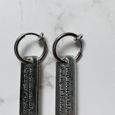 tag earring【Si106】