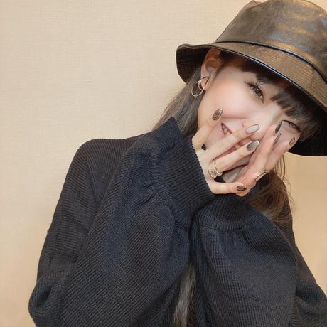 bucket hat -black-【Si080-BLK】