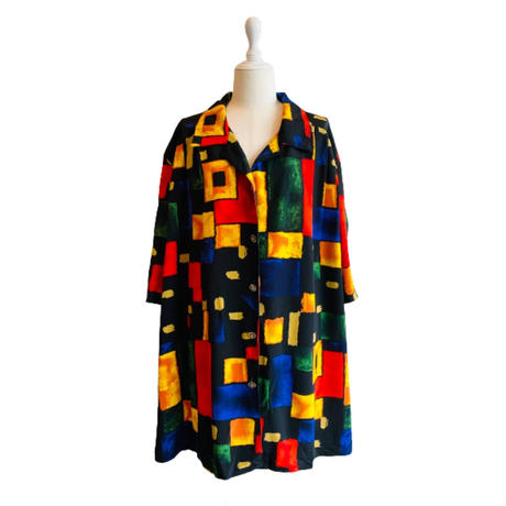 vintage short sleeve shirt [Vsl107]