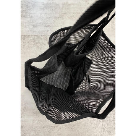 summer mesh tote【Si113-BLK】