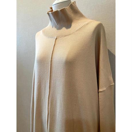 bottleneck knit one-piece -ivory-【Sd002-IVR】