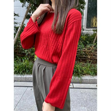 vintage red knit [Vk033]