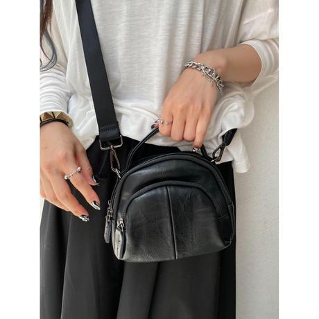 compact shoulder bag【Si099】