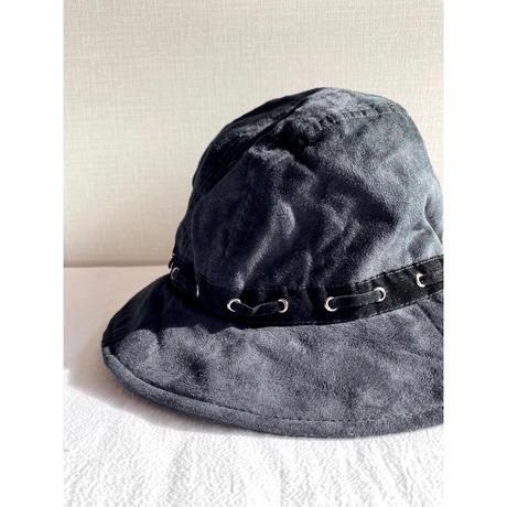 vintage suede hat [Vi251]