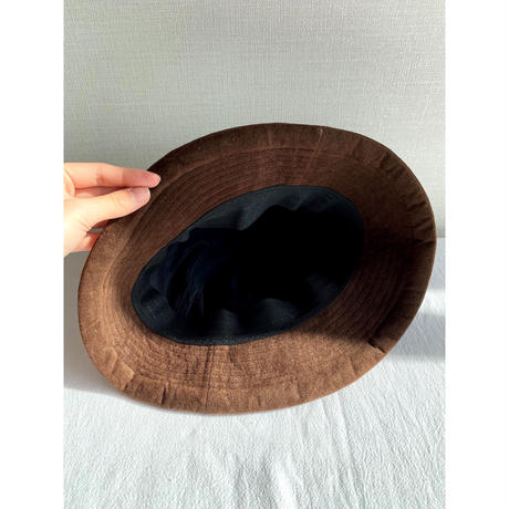 vintage suede hat [Vi250]