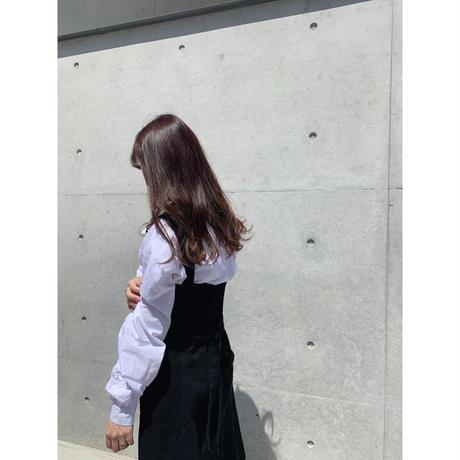 ribbon neck shirt【St014】