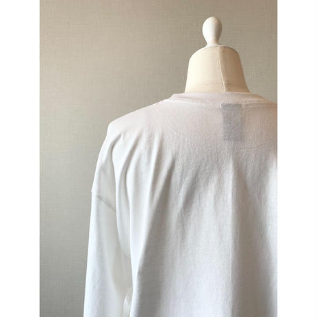 original long tee -white-