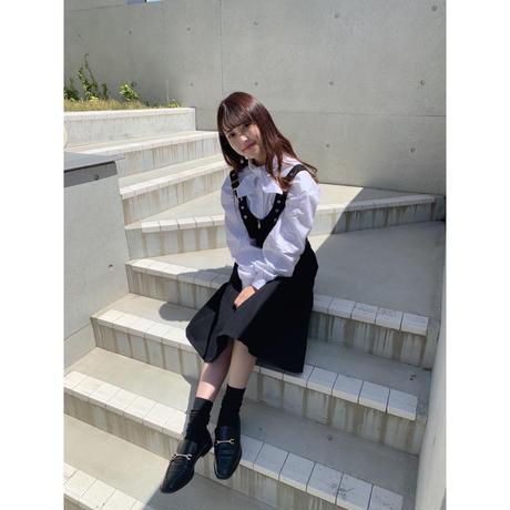 denim jumper skirt【Sd003】