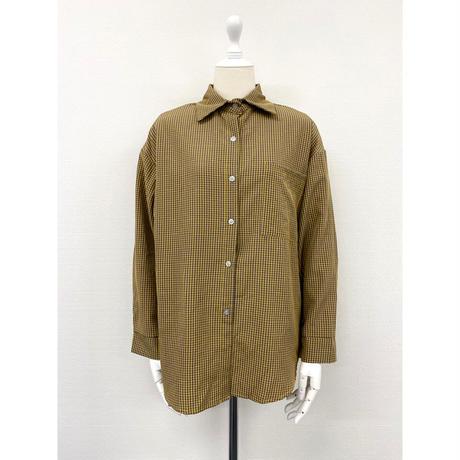 rétro check shirt【St020】