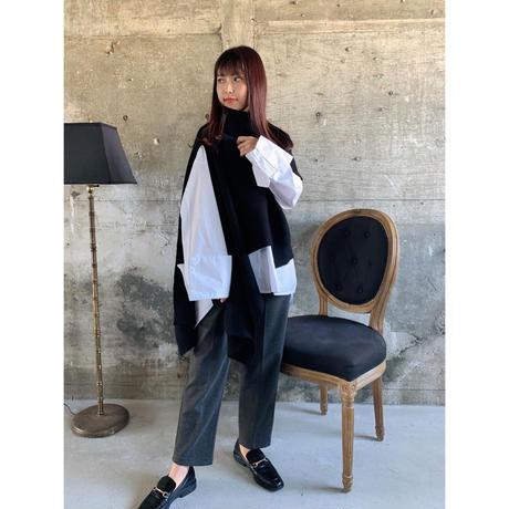 asymmetry knit【St011-BLK】