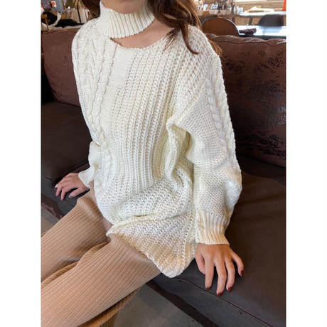 cable knit (white)
