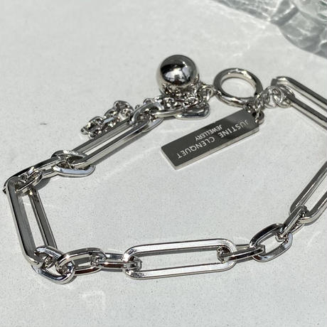 silver chain bracelet【Si091】