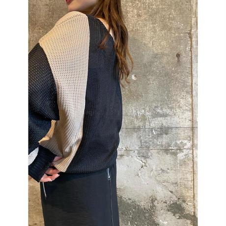 bi-color cloche knit [Vk025]