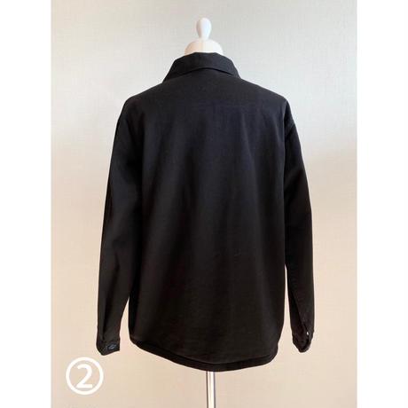 ②men's blacking work shirt [Vj042]