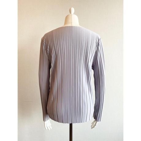 Boat neck pleats tops【St013-PPL】