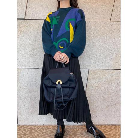 vintage pleats skirt  [Vs048]
