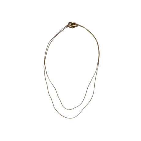 pair gold necklace【Si084】