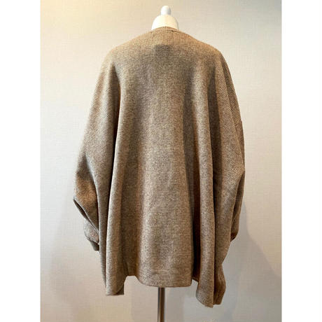 big silhouette knit - biscuit-【St001-BCT】