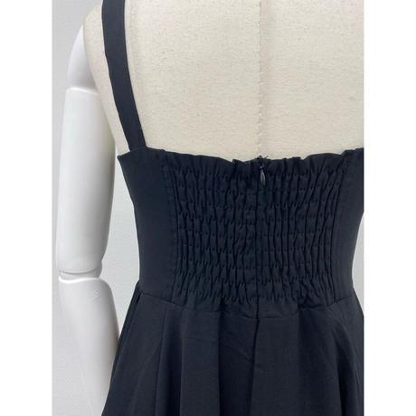 pleats jumper skirt【Sk003-BLK】