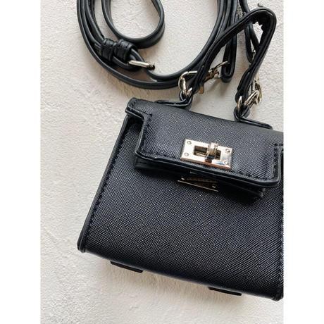 Acoessory bag【Si096-BLK】