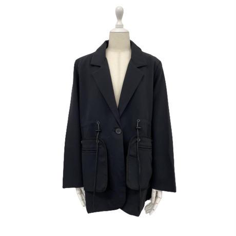 mode black jacket【So005】