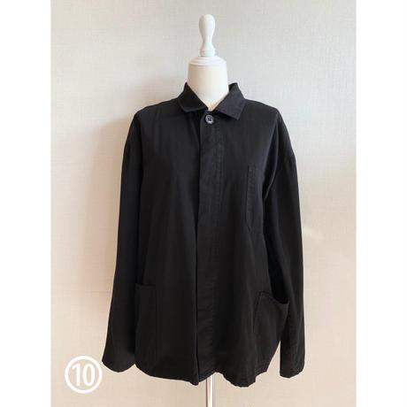 ⑩men's blacking work shirt [Vj050]