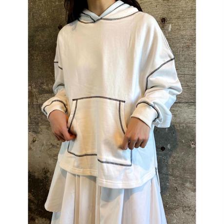 stitch hoodie【St010-WHT】