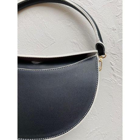 By color 2way bag【Si095-BLK】