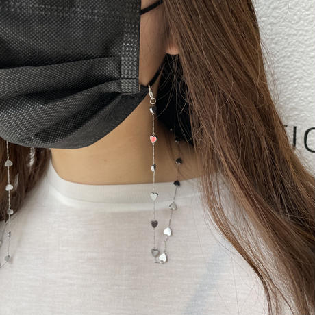 heart mask chain【Si098】