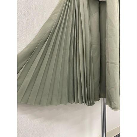pleats jumper skirt【Sk003-GRN】