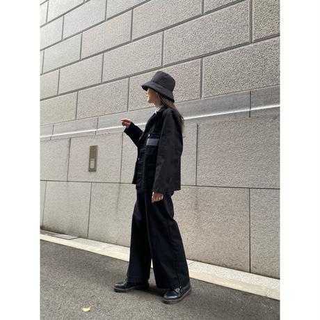 ①men's blacking work shirt [Vj041]