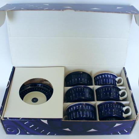 ARABIA Valencia/アラビア ヴァレンシア デミタスカップソーサー6客セット箱付 商品№169