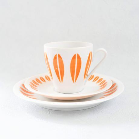 Lyngby/Lotus(リュンビュー・ロータス) オレンジ カップソーサートリオ