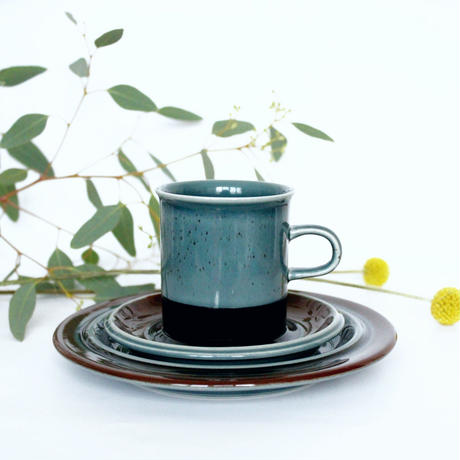 ARABIA/Meri アラビア/ メリ コーヒーカップソーサー&ミニプレートトリオ 商品№174